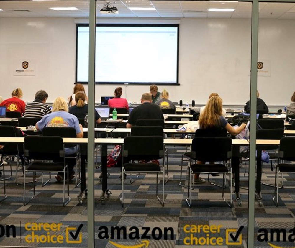 Amazon workers participate in the company's Career Choice program. (Courtesy of Amazon)