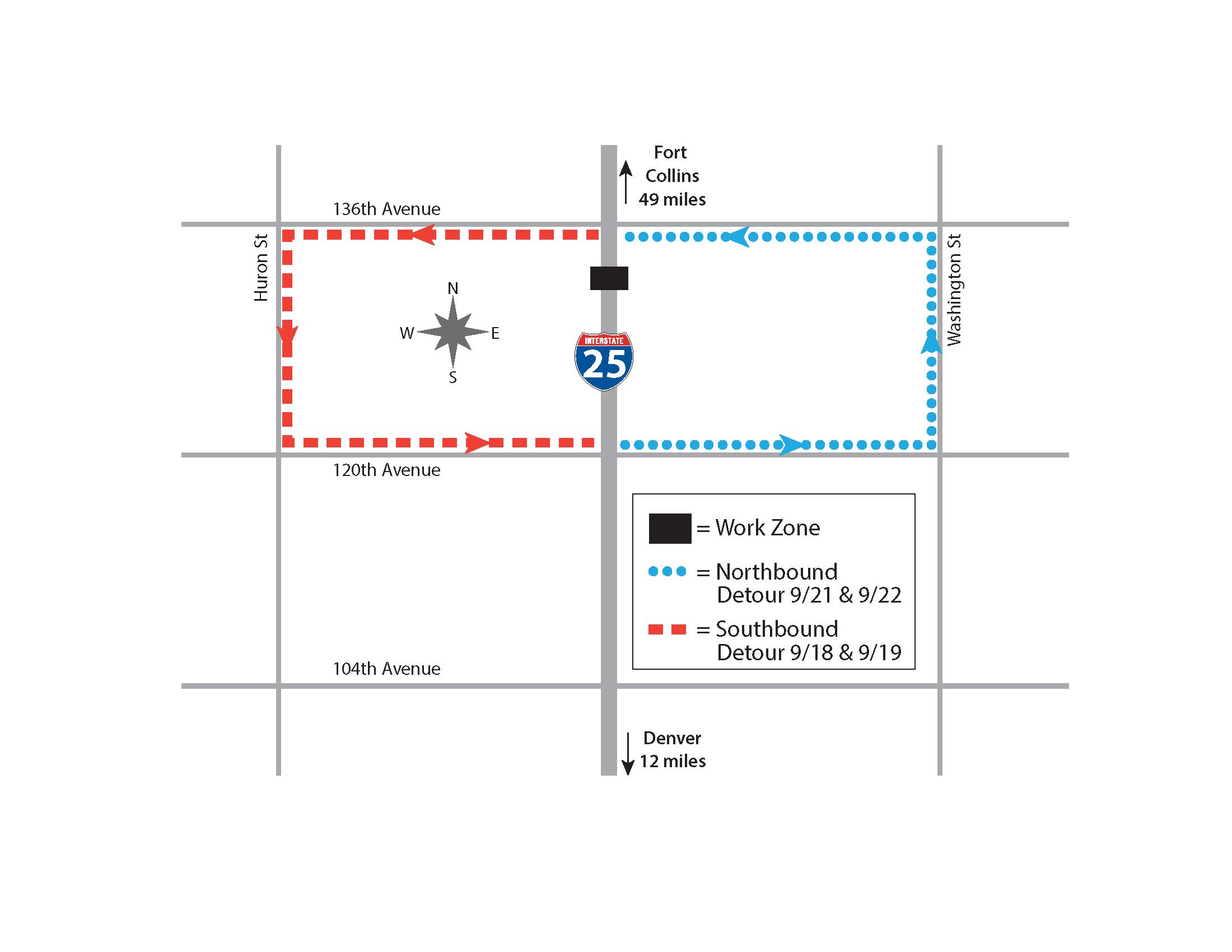 Scheduled delays on I-25. (CDOT)