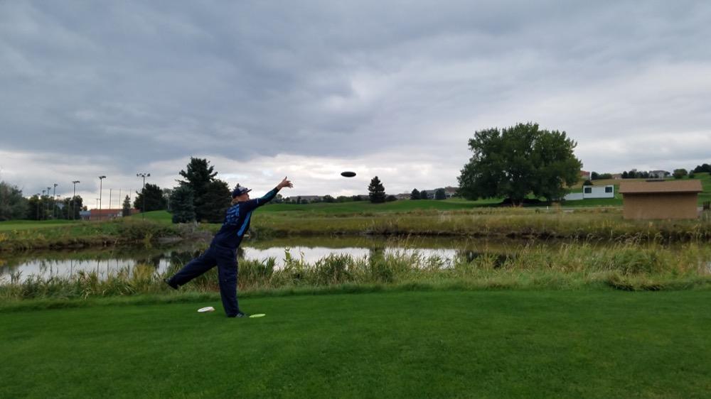 Chris Waite plays Dragon's Breath disc golf course. (Courtesy Mike Hanson)
