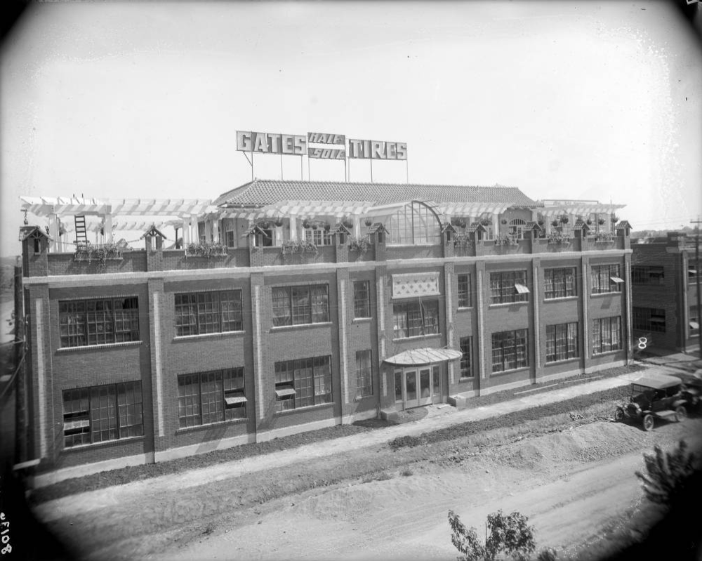 A view of the Gates Rubber Co. office building in 1917. (Harry Mellon Rhoads/Denver Public Library/Rh-776)