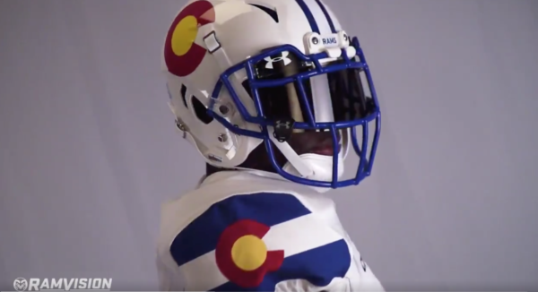 The uniforms Colorado State football will wear Nov. 11 against Boise State. (Screen shot via @CSUFootball)
