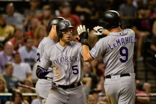 Carlos Gonzalez ripped two home runs Tuesday. (Matt Kartozian/USA Today Sports)