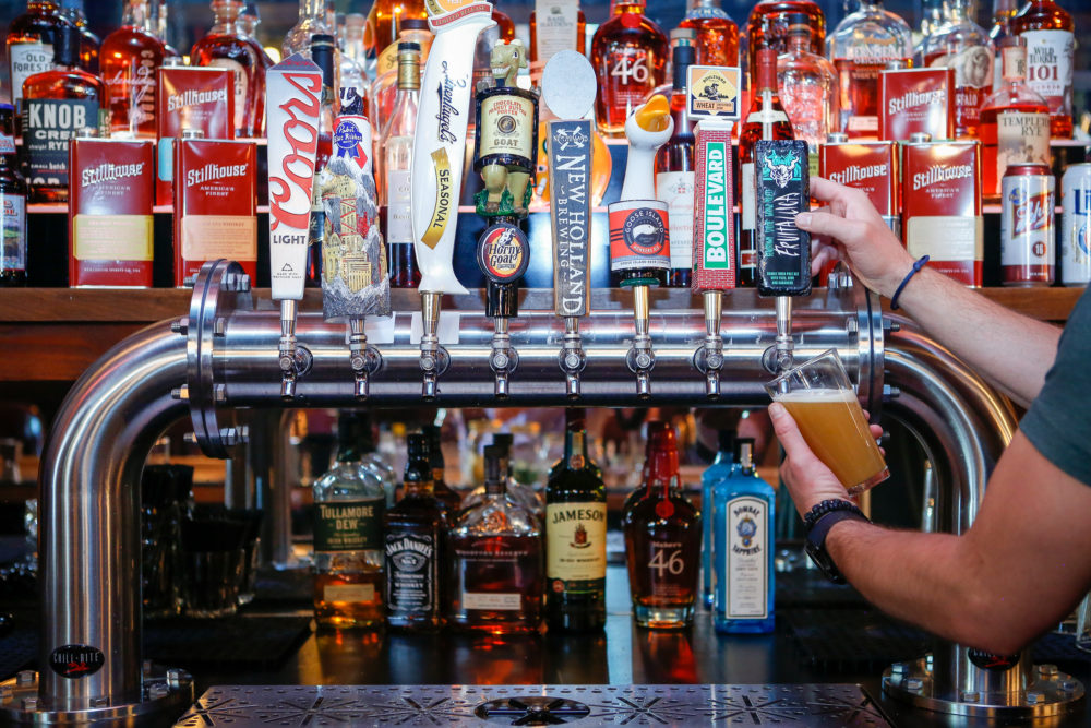 Behind the bar at Wally's Wisconsin Tavern. (Courtesy of B Public Relations)