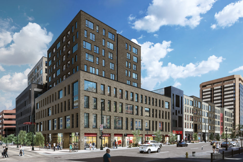 The proposed exterior of Market Street Station. (Courtesy of Continuum Partners)