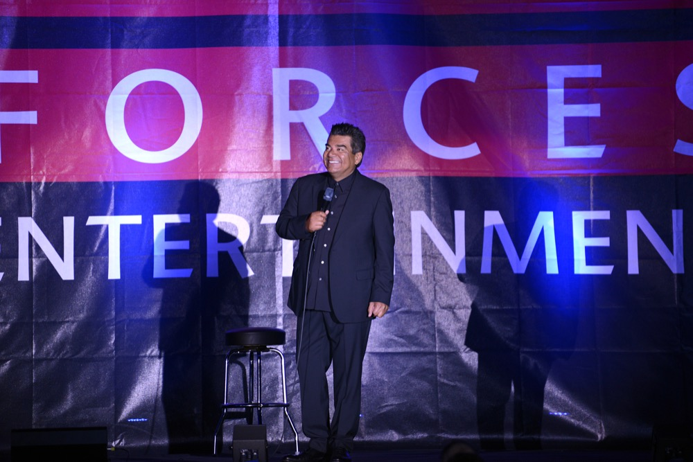 George Lopez at Ramstein Air Base in Germany on 2015. (U.S. Air Force photo/Staff Sgt. Kris Levasseur)