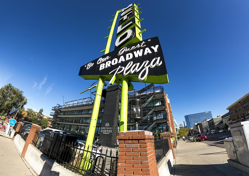 Metlo Plaza on Broadway. (Kevin J. Beaty/Denverite)  denver; colorado; golden triangle; commercial real estate; broadway; kevinjbeaty; denverite;