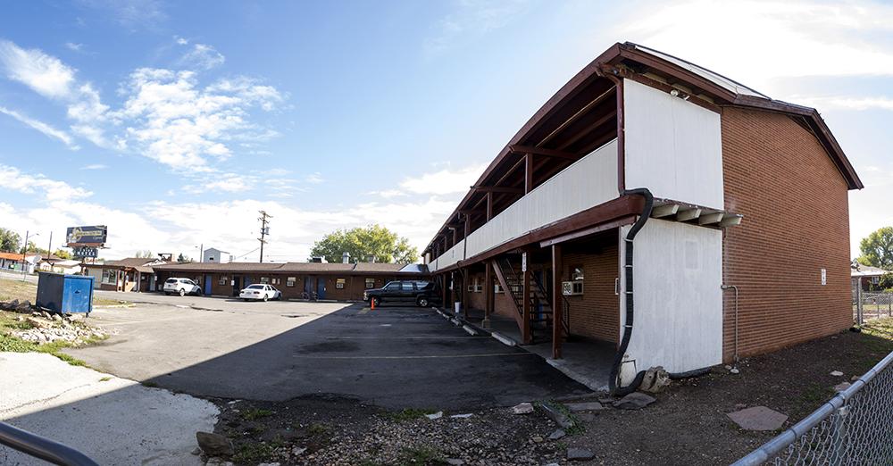 The 7 Star Motel on East Colfax Avenue. (Kevin J. Beaty/Denverite)  colorado; denver; kevinjbeaty; denverite; colfax; motel;