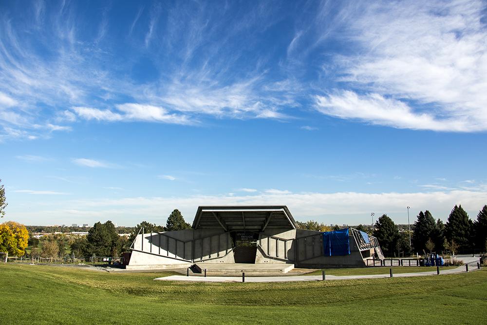 Levitt Pavilion at the bottom of Ruby Hill. (Kevin J. Beaty/Denverite)