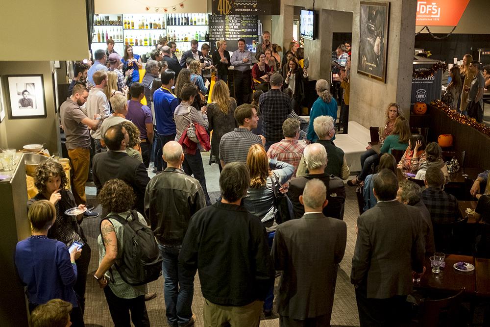 Denverite's Colfax Week party at the Sie Film Center, Oct. 13, 2017. (Kevin J. Beaty/Denverite)  colfax; denverite; denverite party; kevinjbeaty; sie film center; denver; colorado;