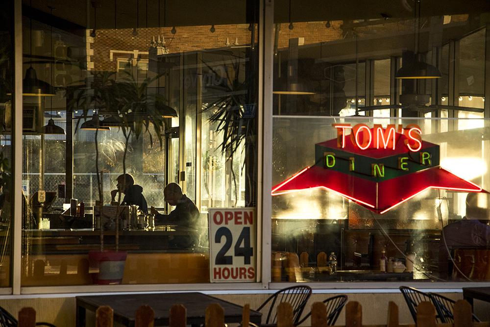 Breakfast time at Tom's Diner, East Colfax Avenue, Oct. 19, 2017. (Kevin J. Beaty/Denverite)