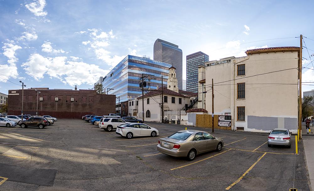 The shuttered Grant Street Art Studios at 19th Avenue, Oct. 21, 2017. (Kevin J. Beaty/Denverite)  north capitol hill; denver; development; denverite; kevinjbeaty; colorado;