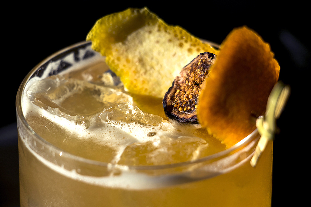 """Fresh to Death,"" a take on an Old Fashioned served up inside Bar Helix, Oct. 24, 2017. (Kevin J. Beaty/Denverite)  denver; colorado; denverite; kevinjbeaty; food; bars; nightlife; rino; five points;"