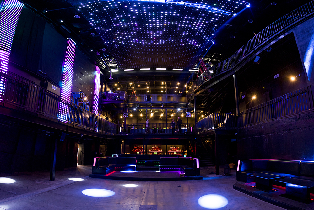 Temple Nightclub Denver under last-minute work before its soft opening, Oct. 26, 2017. (Kevin J. Beaty/Denverite)  denver; colorado; denverite; kevinjbeaty; club; nightlife; capitol hill;