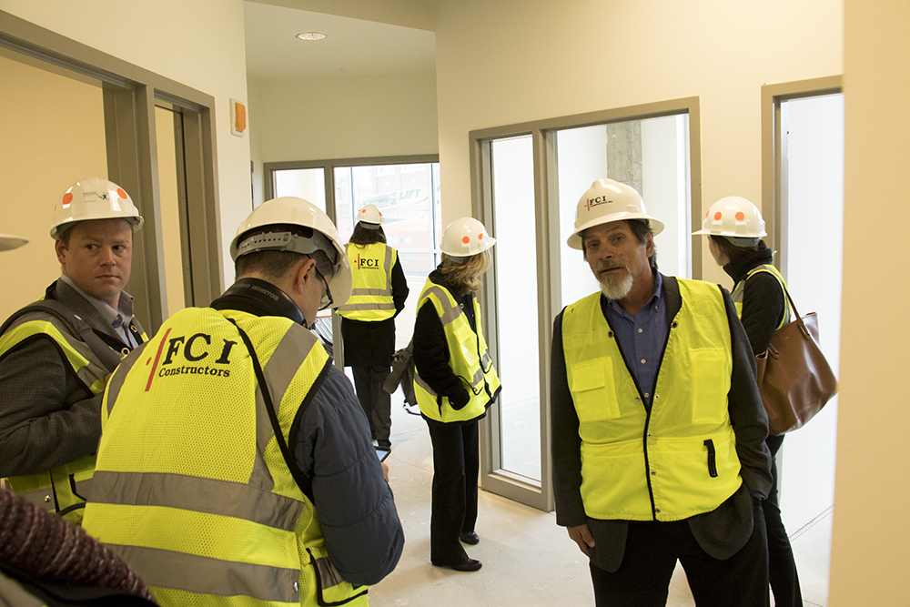 A media tour of the Broadway Renaissance Lofts, 2075 Broadway, Oct. 30, 2017. (Andrew Kenney/Denverite)  supportive housing; affordable housing; five points; ballpark;
