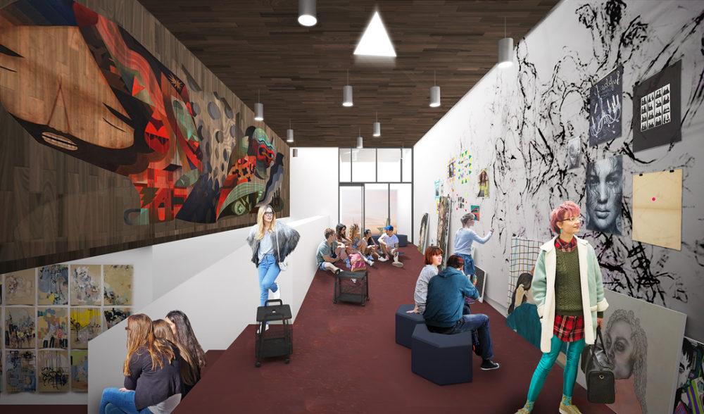 Artist's rendering of renovations at the MCA Denver. (Courtesy of MCA Denver)
