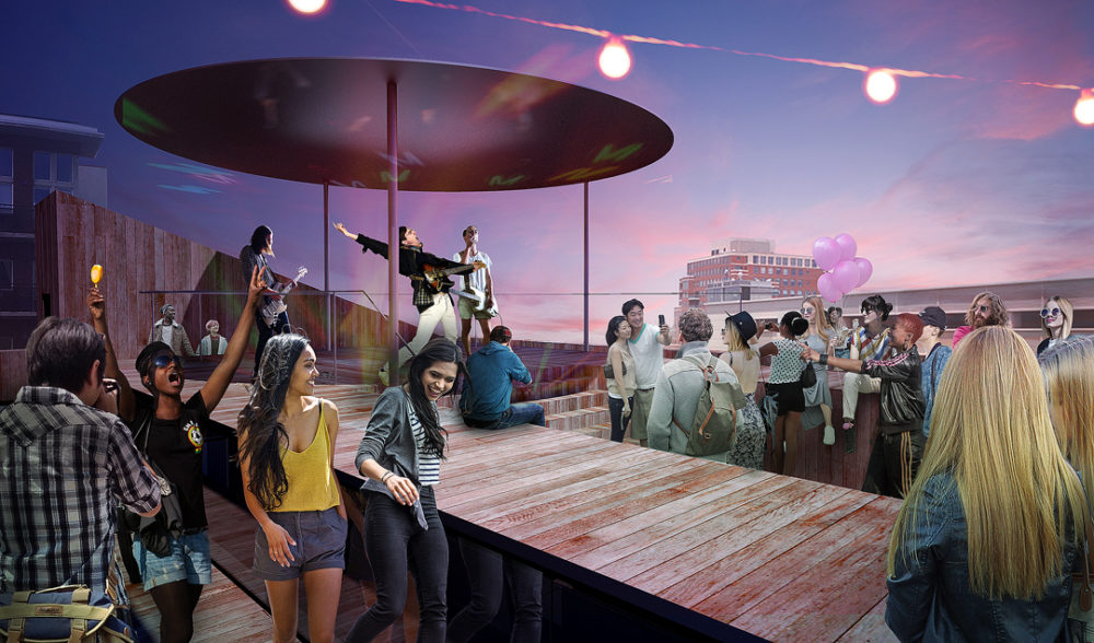 Artist's rendering of the renovated rooftop at the MCA Denver. (Courtesy of MCA Denver)