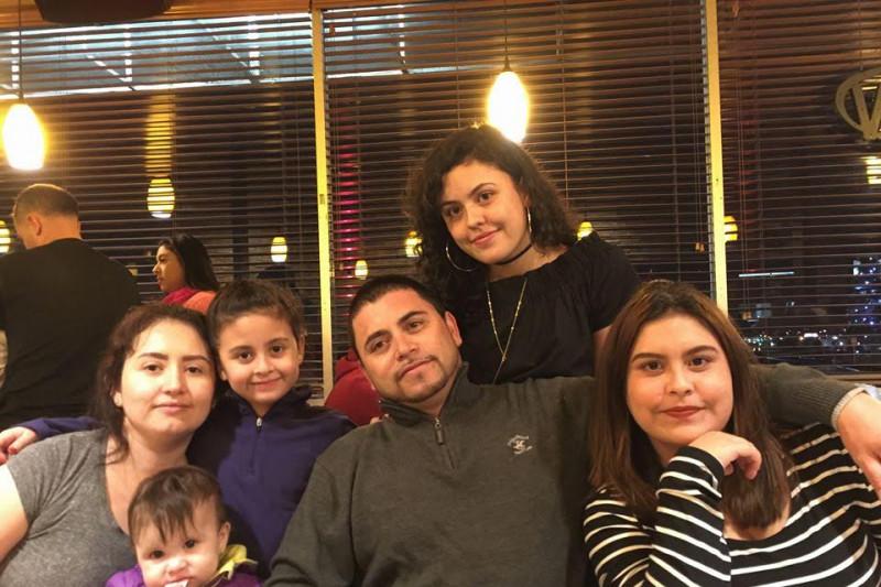 Melecio Andazola Morales with his family. (Courtesy Andazola Morales family)