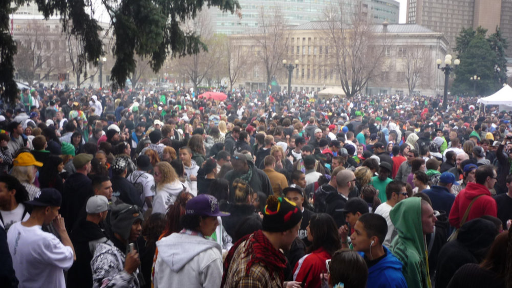 The Civic Center 4/20 rally in 2011. (Xuilla/CC)