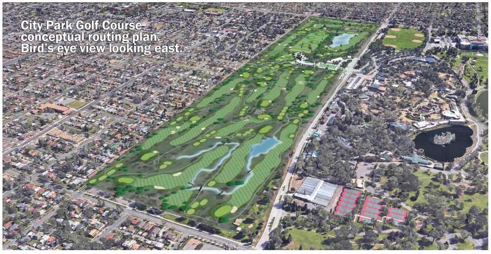 A conceptual plan for the new design of City Park Golf Course. (City & County of Denver)