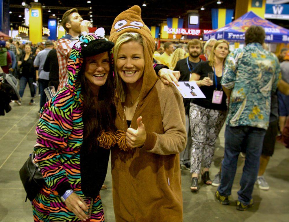 Noelle Lemonds and Carly Hamilton of Denver at the Great American Beer Festival on Thursday, Oct. 5, 2017. (Paul Karolyi for Denverite)