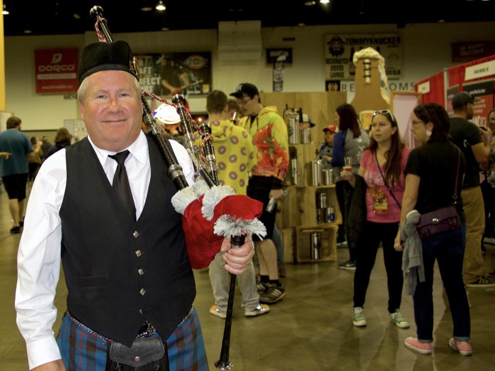 Paul Schafer of Niwot  at the Great American Beer Festival on Thursday, Oct. 5, 2017. (Paul Karolyi for Denverite)