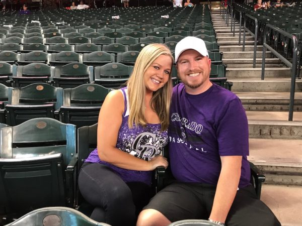 The Parsons at the Rockies game. (Christian Clark/Denverite)