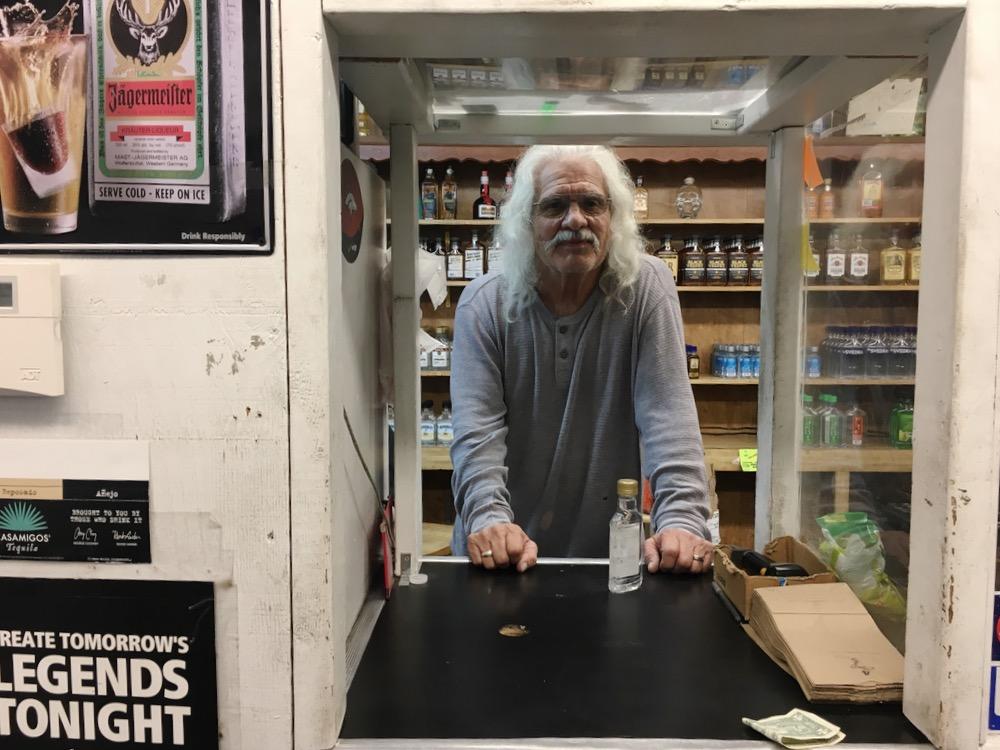 Esteban Lopez at work on West Colfax. (Andrew Kenney/Denverite)