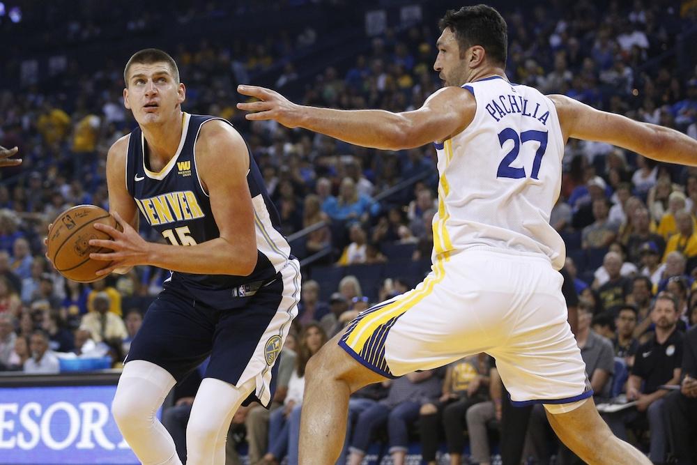 Nikola Jokic goes up for a shot. (Richard Mackson/USA Today Sports)