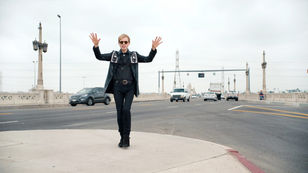 "Beck in the video for ""Wow."" (Courtesy Nasty Little Man)"
