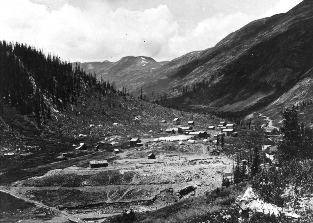 The mining camp at Animas Forks in the Animas River valley of San Juan County between 1877 and 1885. (Western History & Genealogy Dept./Denver Public Library)