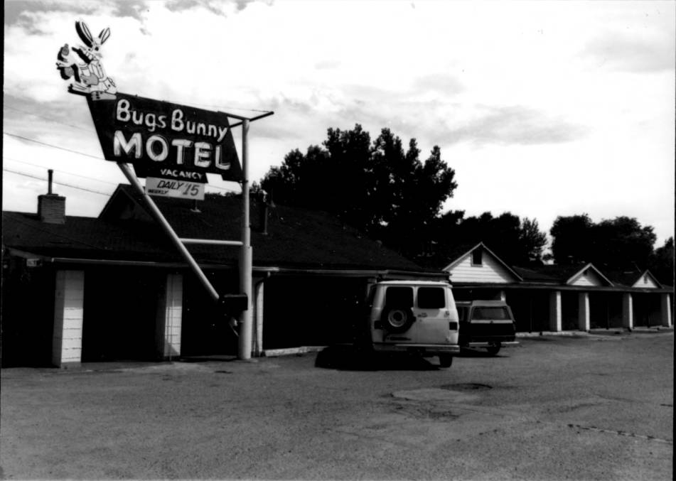 The Bugs Bunny Motel, now known as the Big Bunny Motel, at 6218 West Colfax Avenue in Lakewood. (Lakewood Heritage Collection/Denver Public Library)