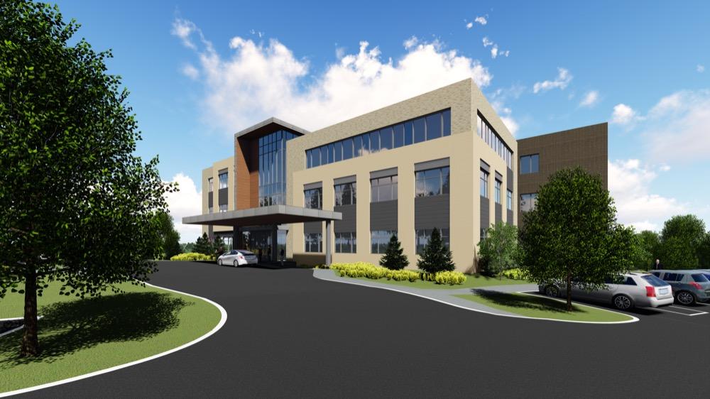 The new Dry Creek medical office building slated for the Denver Tech Center. (Courtesy of Vertix Builders)
