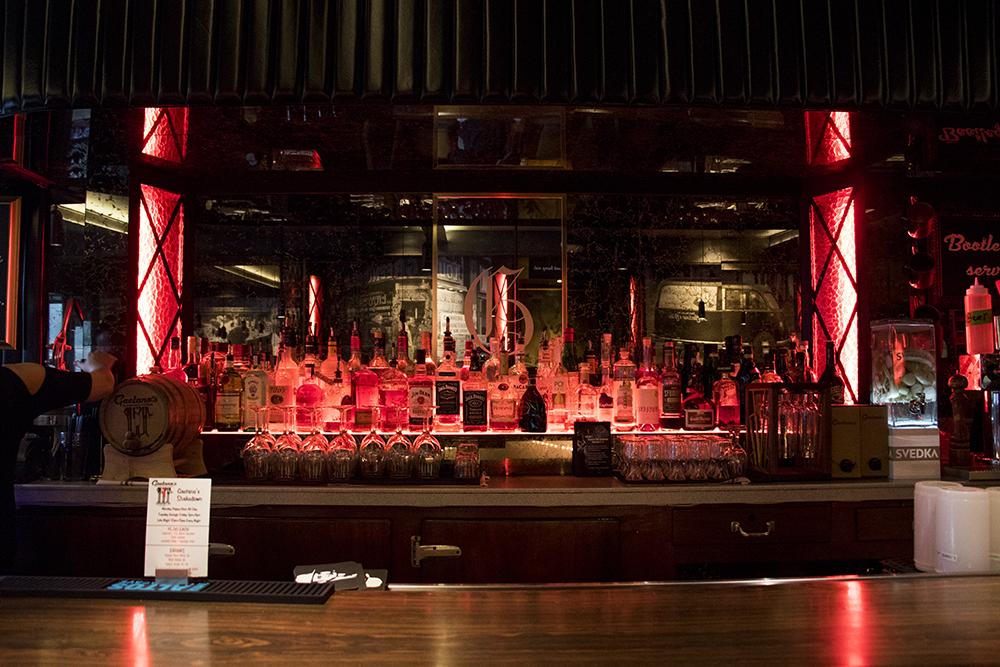 The bar at Gaetano's on Tejon Street, Highland, Nov. 6, 2017. (Kevin J. Beaty/Denverite)  gaetanos; food; highland; restaurant; kevinjbeaty; denver; denverite; colorado; bar;