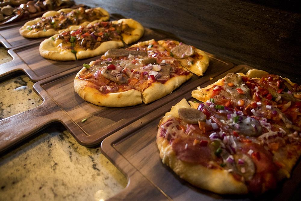 Obling pizzas available at Rino Beer Garden on Walnut Street, Nov. 6, 2017. (Kevin J. Beaty/Denverite)  food; restaurant; kevinjbeaty; denver; denverite; colorado; nightlife; bar; five points; rino;
