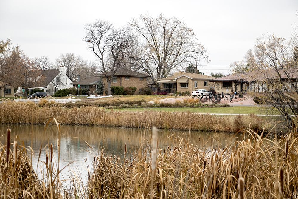 Huston Lake Park, Athmar Park. (Kevin J. Beaty/Denverite)  kevinjbeaty; denverite; denver; colorado; athmar park; retail; huston lake park;