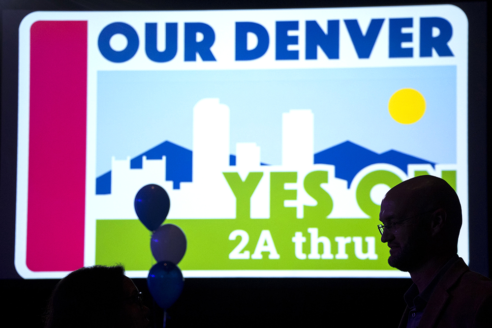 City Councilman Jolon Clark at a watch party for the 2017 Denver Election, Nov. 7, 2017. (Kevin J. Beaty/Denverite)  voting; vote; election; denver; denverite; colorado; kevinjbeaty;