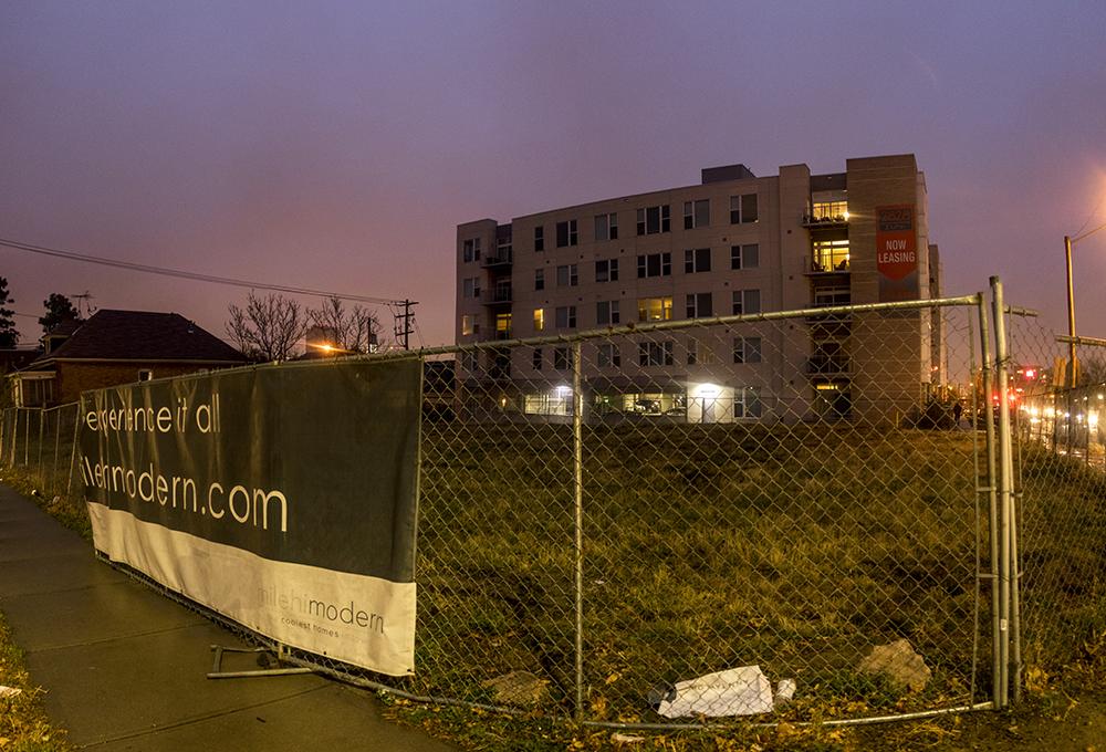 The corner of West 29th Avenue and Zuni Street. (Kevin J. Beaty/Denverite)  denver; colorado; kevinjbeaty; denverite; highland; development;