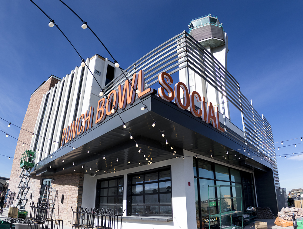 Punch Bowl Social Stapleton days before its grand opening, Nov. 15, 2017. (Kevin J. Beaty/Denverite)