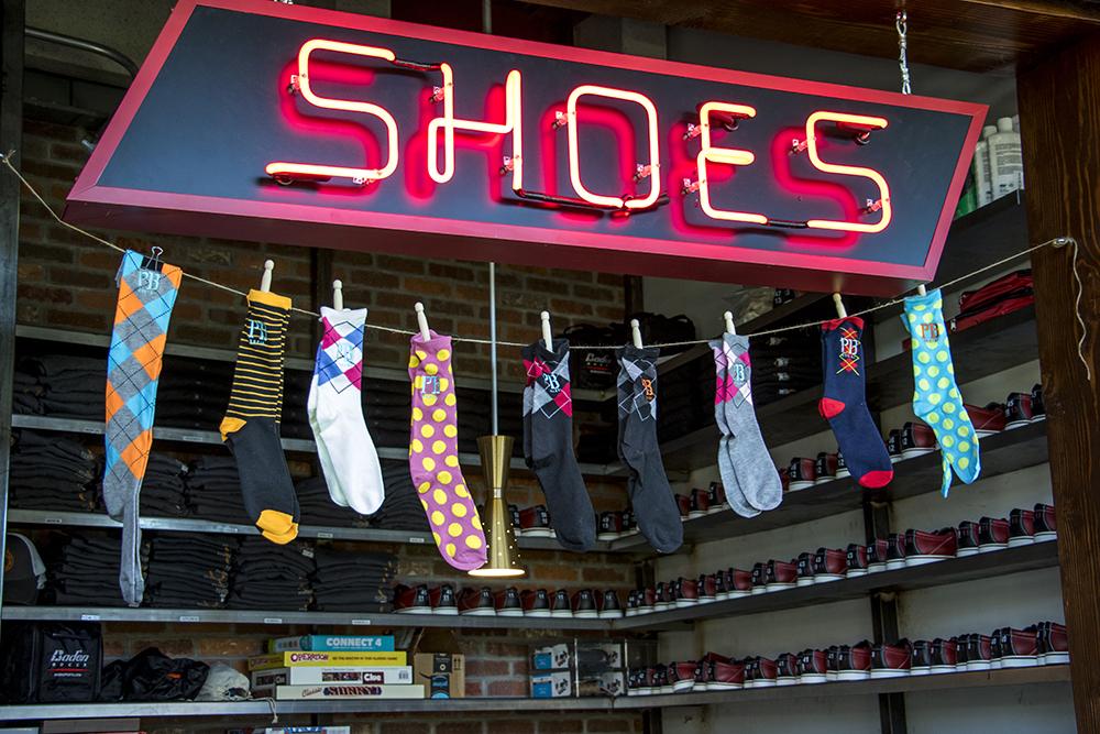 Shoe rental for bowling. Punch Bowl Social Stapleton days before its grand opening, Nov. 15, 2017. (Kevin J. Beaty/Denverite)  denver; colorado; denverite; kevinjbeaty; punch bowl social; stapleton; food; restaurant; nightlife; bar;