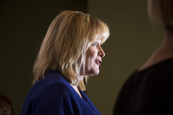 Colorado Attorney General Cynthia Coffman speaks at a Stand Up Colorado press conference, Nov. 17, 2017. (Kevin J. Beaty/Denverite)  kevinjbeaty; denver; denverite; colorado;
