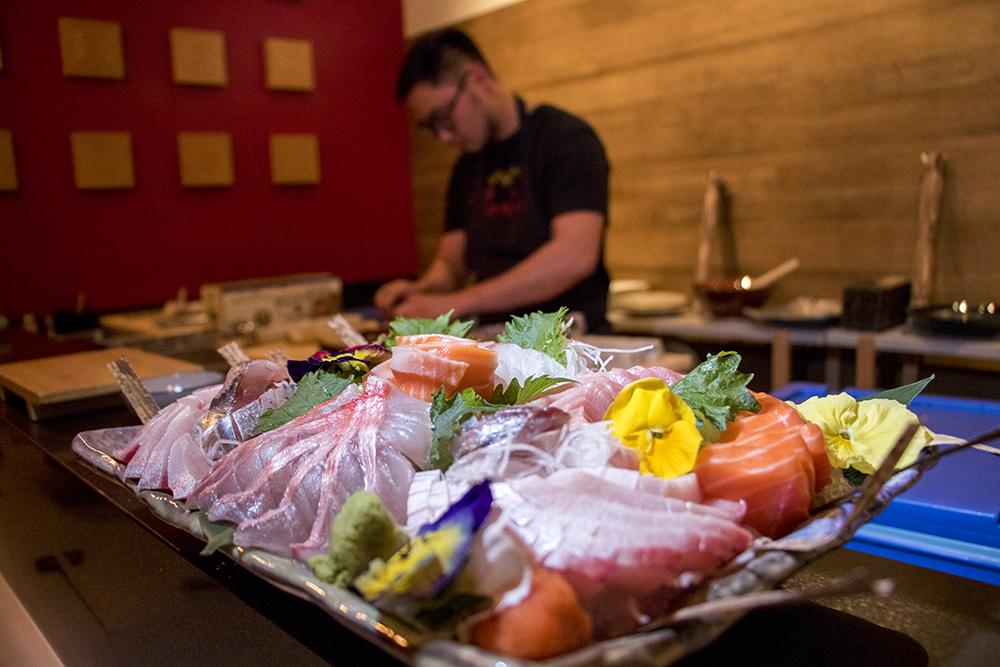 A big 'ol plate of shashimi at Izakaya Ronin, Nov. 28, 2017. (Kevin J. Beaty/Denverite)  kevinjbeaty; denver; denverite; colorado; food; rino; brighton boulevard; five points; nightlife;