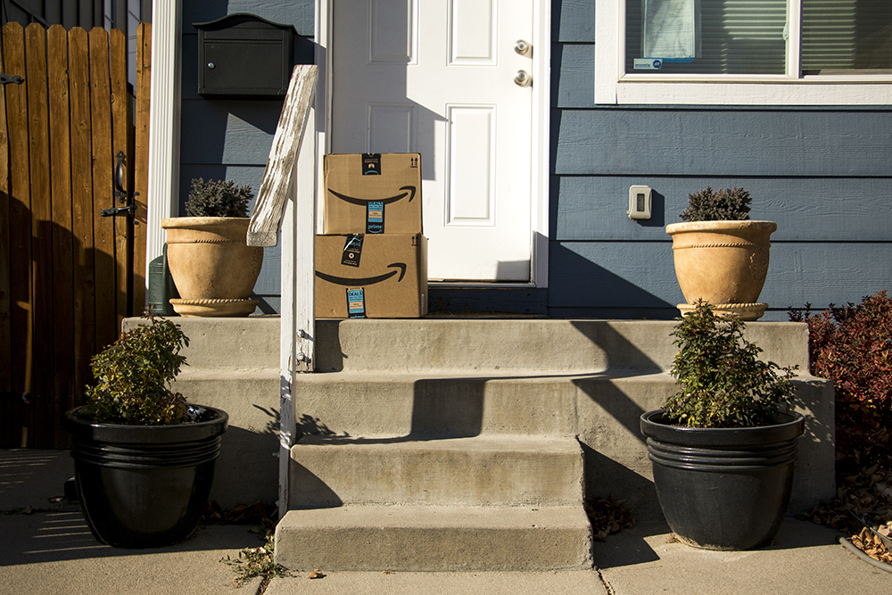 Special delivery! (Kevin J. Beaty/Denverite)  amazon; denver; colorado; denverite; kevinjbeaty;