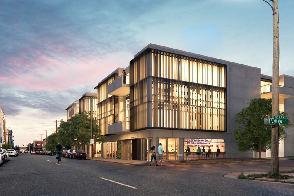 An office building planned at the southeast corner of West 32nd Avenue and Vallejo Street. (Courtesy of Elevate Architecture)
