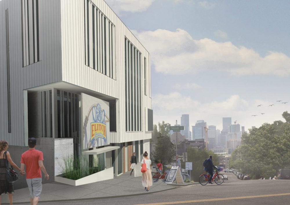 A rendering of Revesco Properties office planned for Highland, 2721 17th St.  (Courtesy of Revesco Properties)