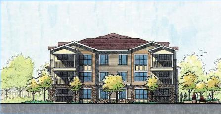 Rendering of housing unit at East Range Crossing (City of Denver)