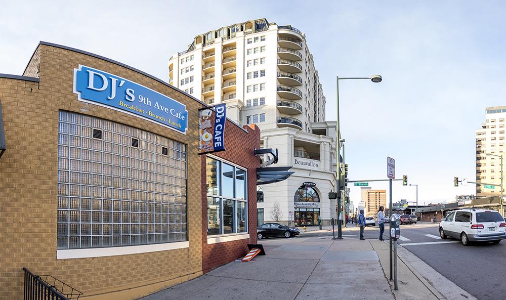 DJ's 9th Ave. Cafe is closed, Nov. 4, 2017. (Kevin J. Beaty/Denverite)  food; commercial real estate; development; denver; colorado; denverite; kevinjbeaty;
