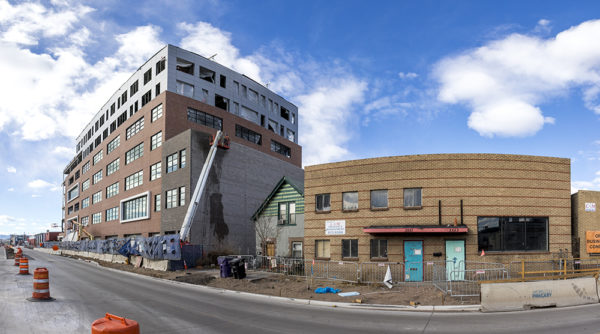 The former site of Glob and Rhinoceropolis along Brighton Boulevard, Dec. 4, 2017. (Kevin J. Beaty/Denverite)