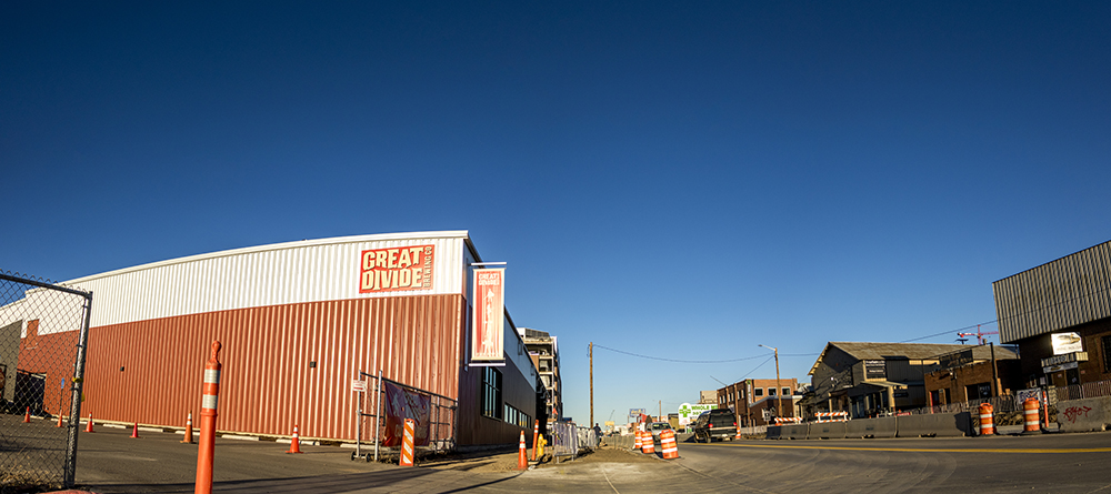 Great Divide's barreling facility on Brighton Boulevard. (Kevin J. Beaty/Denverite)