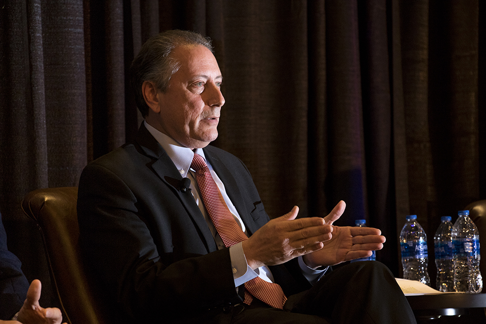 Democratic gubernatorial candidate Noel Ginsburg speaks at the Colorado Health Institute's Hot Issues in Health conference, Dec. 8, 2017. (Kevin J. Beaty/Denverite)  denver; colorado; denverite; kevinjbeaty; election; governors race; gubernatorial; candidate;