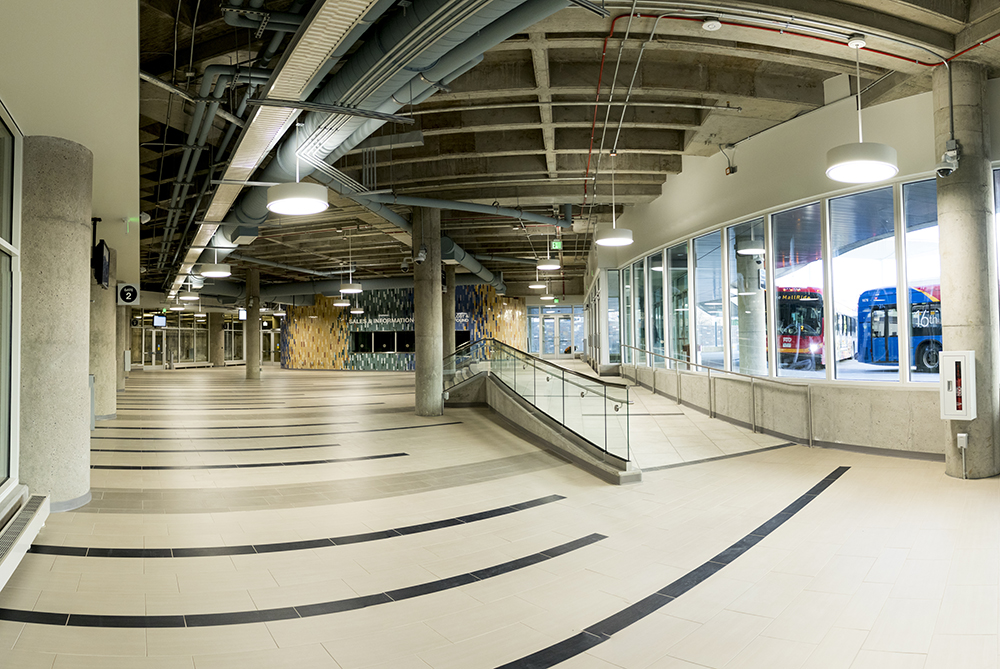 Inside Civic Center Station, which is almost ready to open, Dec. 12, 2017. (Kevin J. Beaty/Denverite)